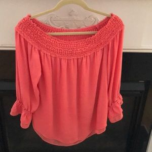 WHBM off the shoulder blouse